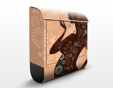 Wandbriefkasten - Lebensfreude - Briefkasten Braun