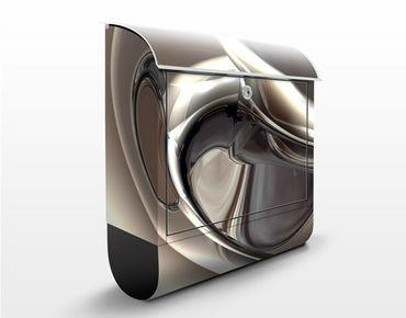 Design Briefkasten Glossy - Briefkasten Grau