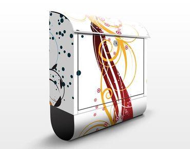 Briefkasten mit Zeitungsfach - Fragile Bubbles - Wandbriefkasten