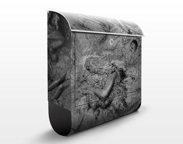 Wandbriefkasten - Aufwühlendes Bad - Briefkasten Grau