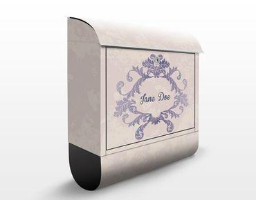 Briefkasten Vintage - No.EK411 Wunschtext Ornament Rahmen