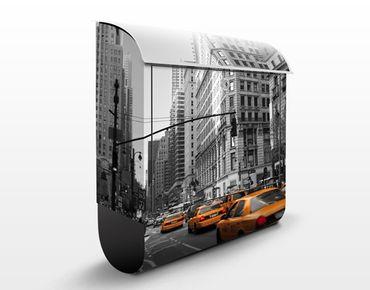 Briefkasten mit Zeitungsfach - New York, New York! - Wandbriefkasten Grau