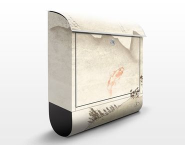 Wandbriefkasten - No.MW8 Japanische Stille - Briefkasten Beige