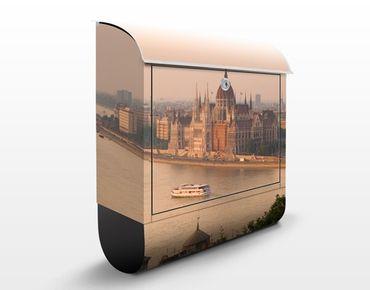 Briefkasten mit Zeitungsfach - Budapest Skyline - Wandbriefkasten