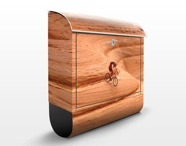 Design Briefkasten Canyon Down Hill - Briefkasten Orange