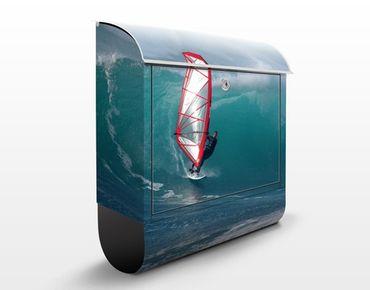 Wandbriefkasten - The Surfer - Briefkasten Blau