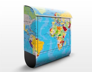 Wandbriefkasten - The World's Countries - Briefkasten Bunt
