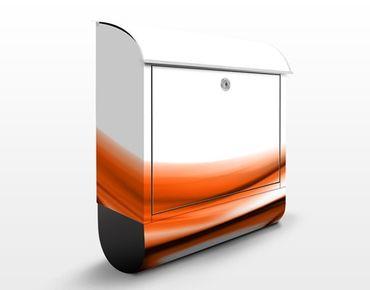 Briefkasten mit Zeitungsfach - Orange Touch - Briefkasten modern