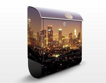 Briefkasten mit Zeitungsfach - L.A. Nights - Wandbriefkasten