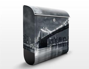 Wandbriefkasten - Manhattan Mysteries - Briefkasten Grau