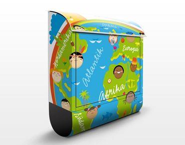 Wandbriefkasten - No.EK129 Kinderwelt - Briefkasten Bunt