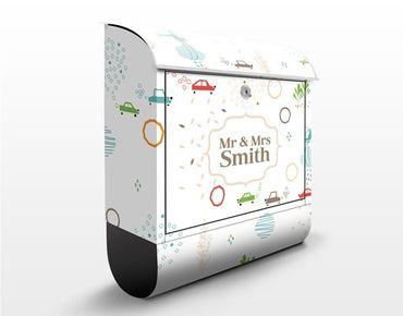 Briefkasten mit Zeitungsfach - Wunschtext Green City Streets