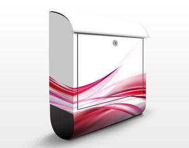 Briefkasten mit Zeitungsfach - Pink Dust - Briefkasten modern