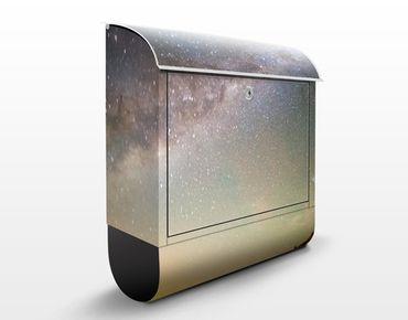 Briefkasten mit Zeitungsfach - Sternenhimmel über dem Meer - Hausbriefkasten