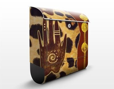 Wandbriefkasten - Touch of Africa - Briefkasten Braun