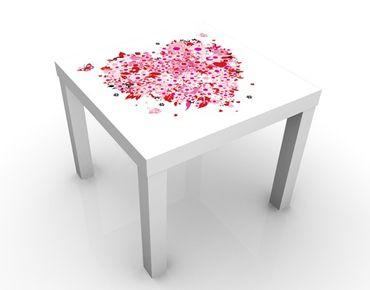 Beistelltisch - Floral Retro Heart