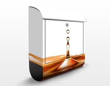 Wandbriefkasten - Gold Drop - Briefkasten Orange