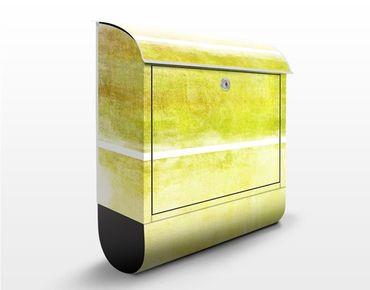 Briefkasten mit Zeitungsfach - Colour Harmony Yellow - Briefkasten modern
