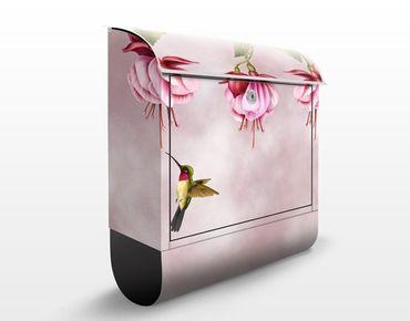 Briefkasten mit Zeitungsfach - Kolibri - Briefkasten mit Tiermotiv