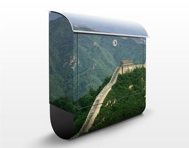 Briefkasten mit Zeitungsfach - Die chinesische Mauer im Grünen - Hausbriefkasten