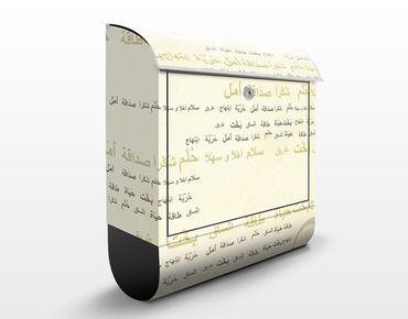 Wandbriefkasten - No.CG198 Arabia Floral - Briefkasten Beige