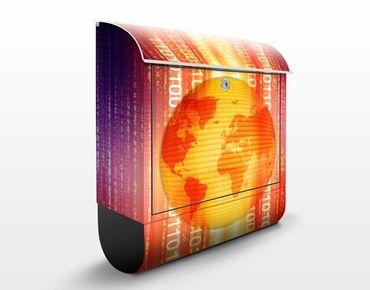Wandbriefkasten - Digital Planet - Briefkasten Gelb