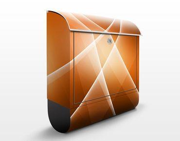 Briefkasten mit Zeitungsfach - Orange Sound - Briefkasten modern
