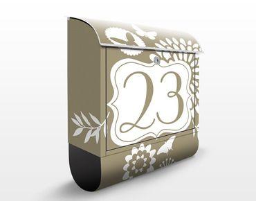 Briefkasten mit eigenem Text & Hausnummer - No.JS306 Wunschtext Peaceful