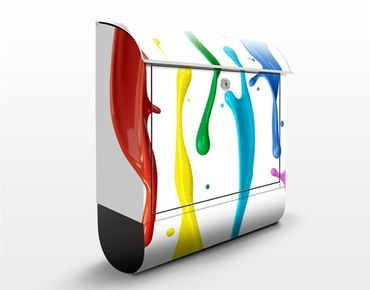 Wandbriefkasten - Farbspritzer - Briefkasten Bunt