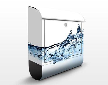Wandbriefkasten - Fizzy Water - Briefkasten Blau-Weiß