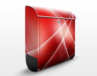Briefkasten mit Zeitungsfach - Swing And Relax - Modern Rot