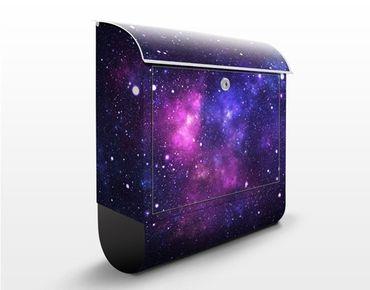 Wandbriefkasten - Galaxie - Briefkasten Schwarz