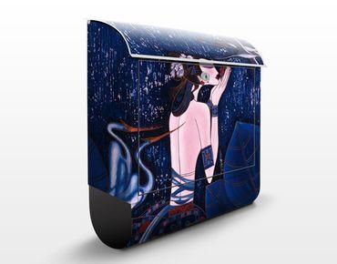 Wandbriefkasten - Wonderland - Briefkasten Blau