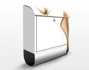 Briefkasten mit Zeitungsfach - Golden Nebula - Briefkasten modern