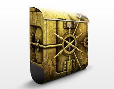 Wandbriefkasten - Golden Safe - Briefkasten Gelb