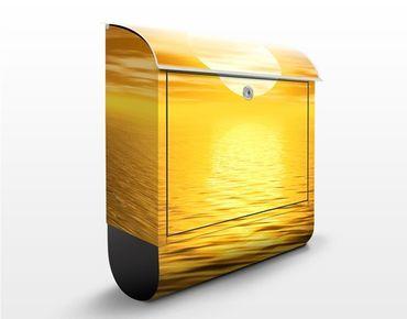 Wandbriefkasten - Golden Sunrise - Briefkasten Gelb