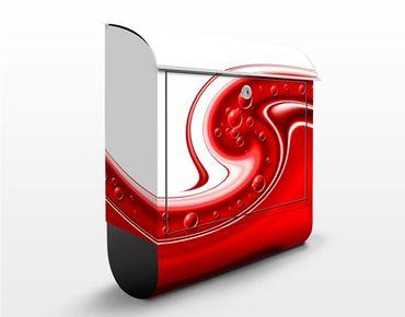 Briefkasten mit Zeitungsfach - Oriental Flow - Modern Rot