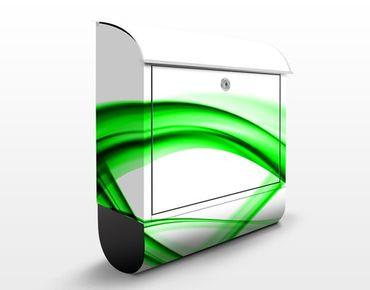 Briefkasten mit Zeitungsfach - Green Element - Briefkasten modern grün