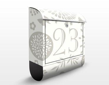 Briefkasten mit eigenem Text & Hausnummer - No.JS303 Wunschtext Gartenidylle