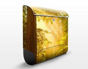 Briefkasten mit Zeitungsfach - Morgengold - Hausbriefkasten
