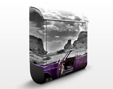 Design Briefkasten Pink Cadillac - Briefkasten Grau