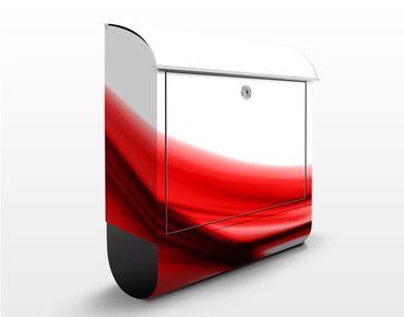 Briefkasten mit Zeitungsfach - Red Touch - Modern Rot-Weiß