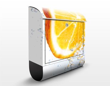 Wandbriefkasten - Splash Orange - Briefkasten Gelb-Weiß