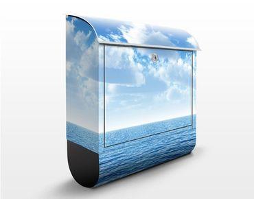 Briefkasten mit Zeitungsfach - Shining Ocean - Hausbriefkasten Blau
