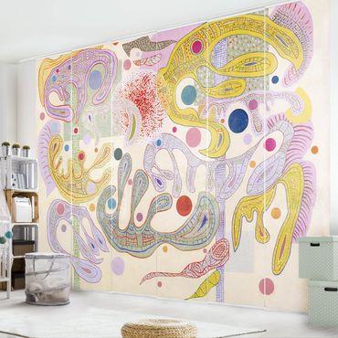 Schiebegardinen Set - Wassily Kandinsky - Launische Formen - Flächenvorhänge