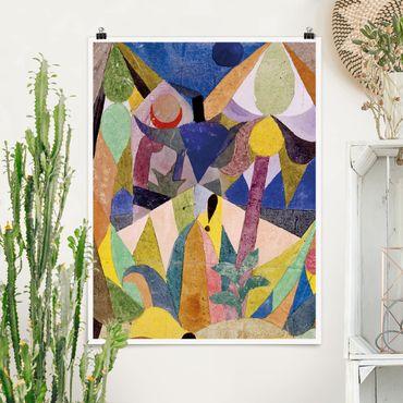 Poster - Paul Klee - Mildtropische Landschaft - Hochformat 3:4