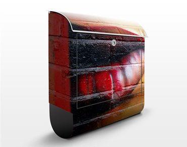 Wandbriefkasten - Show me Lips - Briefkasten Rot