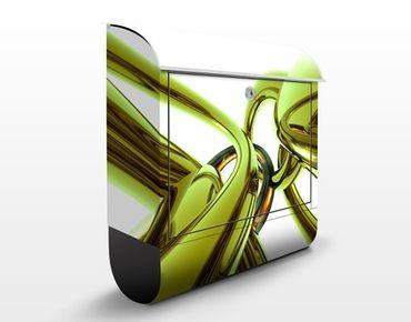 Briefkasten mit Zeitungsfach - Stunning Green Style - Modern Grün