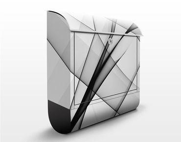 Briefkasten mit Zeitungsfach - Vibration - Modern Grau