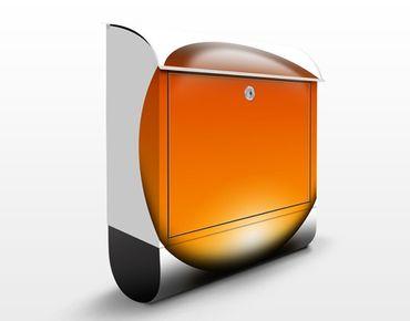 Design Briefkasten Magical Orange Ball - Briefkasten Orange